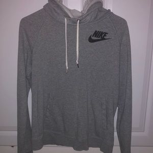 Nike Gray funnel neck sweatshirt